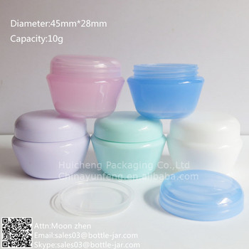Wholesale10g cheap plastic empty cream jars with screw cap