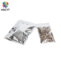 Wholesale 3 sides heat seal zipper aluminum foil snack,food packaging bags