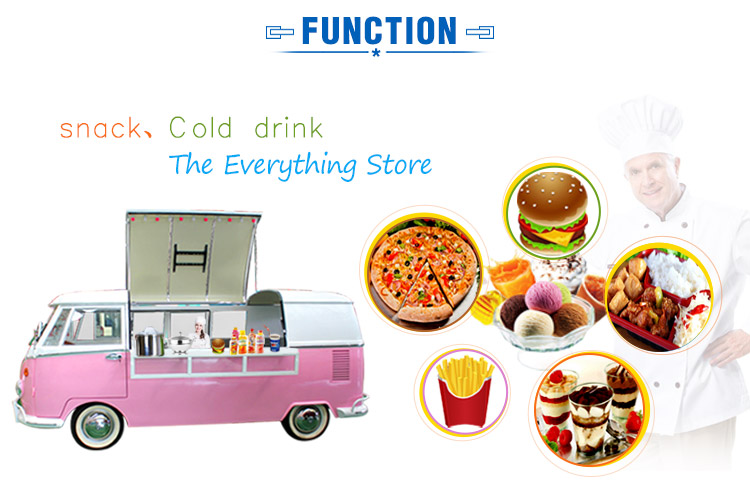 Hot sale mini truck food and drink cart for sale
