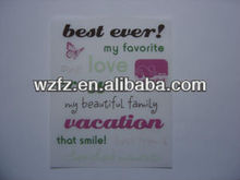 Best wishes rub-on scratching transfer stickers
