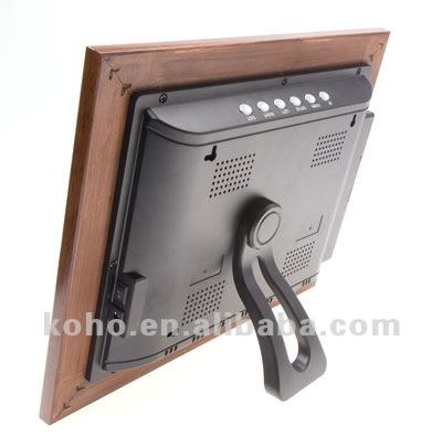 10 4 zoll digitaler bilderrahmen aus holz picture music movie calendar clock memory ebook. Black Bedroom Furniture Sets. Home Design Ideas