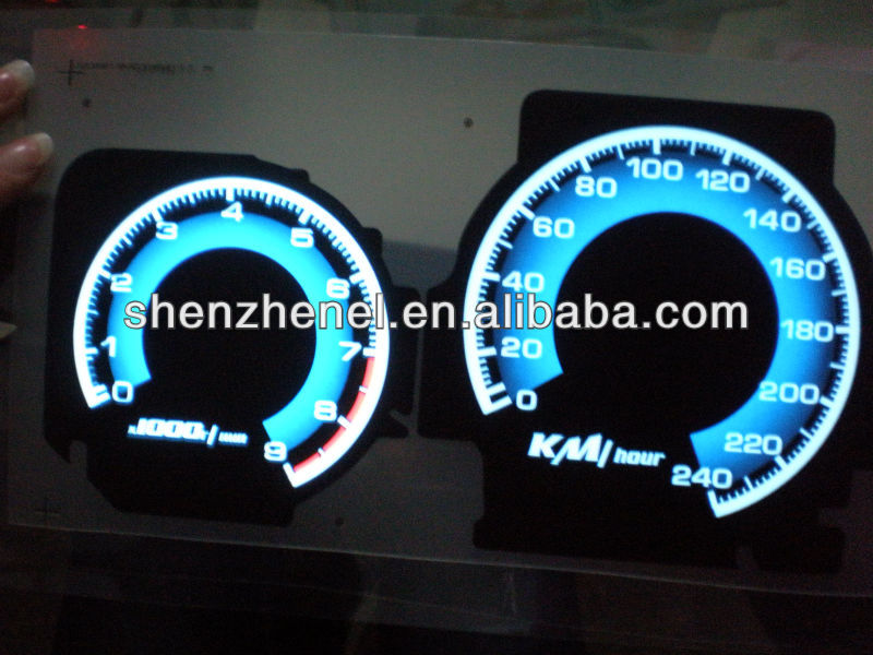 customized high birghtness gradual lighting el gauges, el car meter el dash board