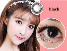 China beauty product coloured eye ware black natural soft color contact lenses