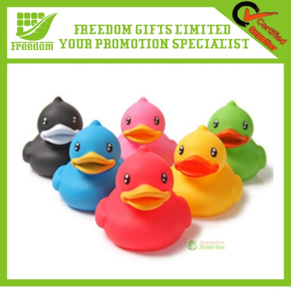 Popular Waterproof Promotion Rubber Duck Toys Multicolor Floating Duck Toys