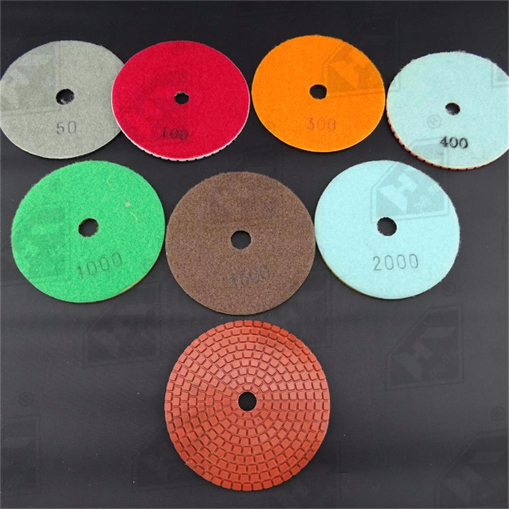 different grit wet stone polishing diamond buffing pads