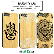 New phone cover cover UV Pure Bamboo Wood Case For iphone 7plus wood cell case phone for samsung s7
