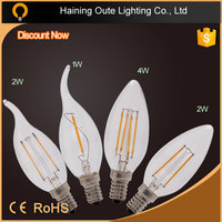 360 beam angle E12 ,E14, E17, E26, E27 led 360 degree filament bulb 4w