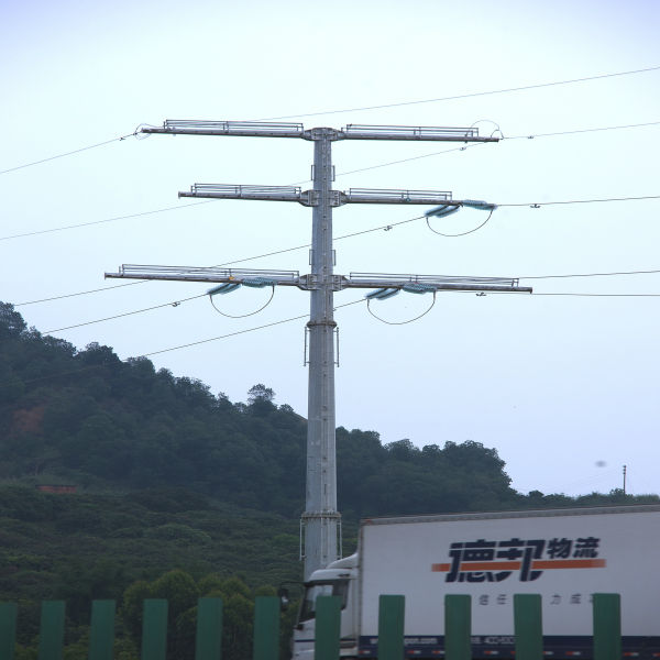 steel power pole of Transmission galvanized Steel pipe Pole
