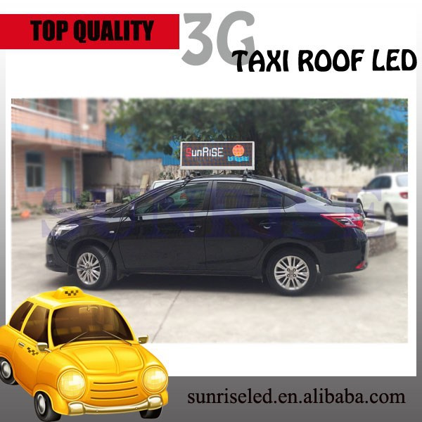 Sunrise p5 p6 car roof rack used led display screen, double side led billboard
