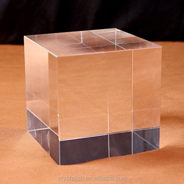 Hot-sale shining k9 blank crystal block cubes for 3D Laser engraving