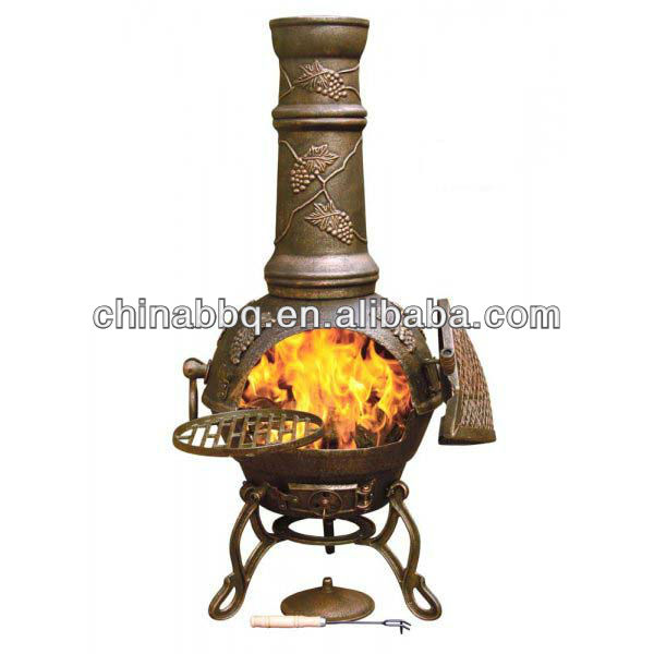 outdoor brazier Toledo Grapes Cast Iron Chiminea