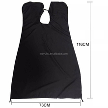 Plastic hair dressing cape apron for haircut made in China