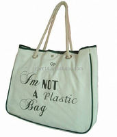 natural cotton drawstring bag/ cotton should bag/ cotton power loom bag
