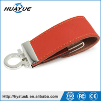 Factory Price U Disk Gift Promotion Metal Leather 2.0 USB Pen Drive 500MB