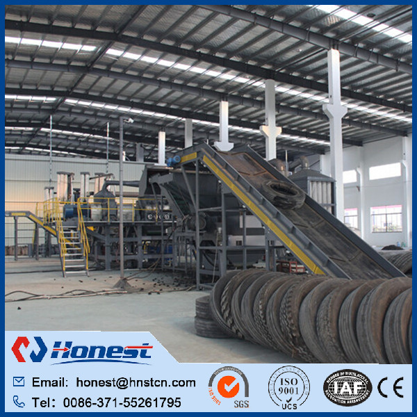 Professional machine recycling rubber waste tyre recycling machine made in China