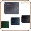 new design luxury crocodile embossed leather men's wallet busienss leather credit card holder smart money clip purse