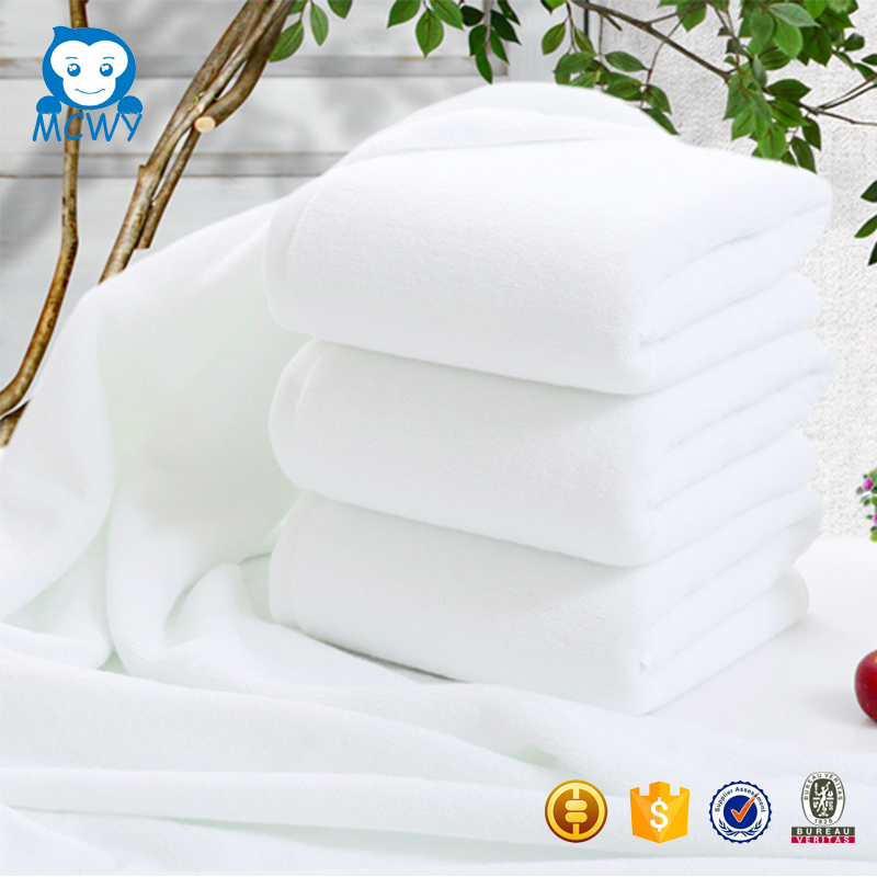 China manufacture 100% cotton white hotel towel bath mat