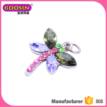Magnetic stone jewelry charm animal charms jewelry, dragonfly pendant
