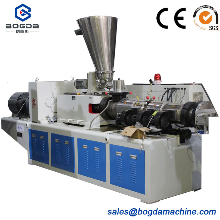 SJZ-51/105 PVC Extruder Conical Twin Screw Extruder