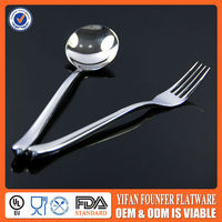 Silver spoon and fork for hotel