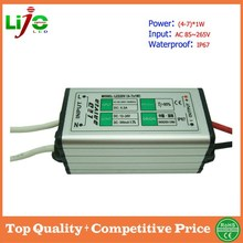 sample free high quality 5w 300ma ip67 waterproof aluminous shell led driver for outdoor led lamps power supply