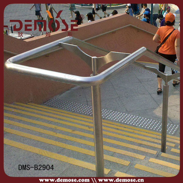 outdoor handicapped and disabled handrail for steps