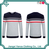 Bulk promotional long sleeve knit man Best-Selling England Britain UK cheap business men clothes with chest stripe
