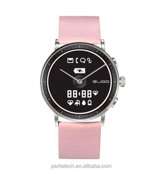 The world's first E-ink display quartz movement smart watch