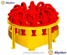 Hydraulic cyclone group for separating