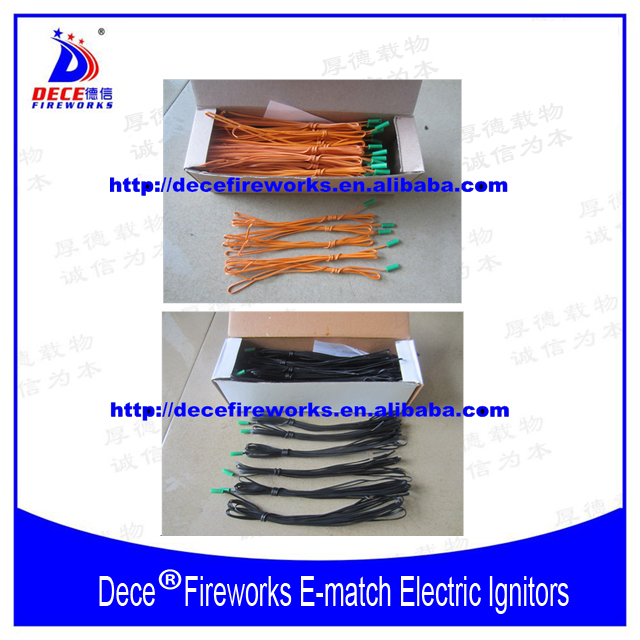 30CM Electric Fireworks e-match firing system electric igniter wire 1000pcs each box
