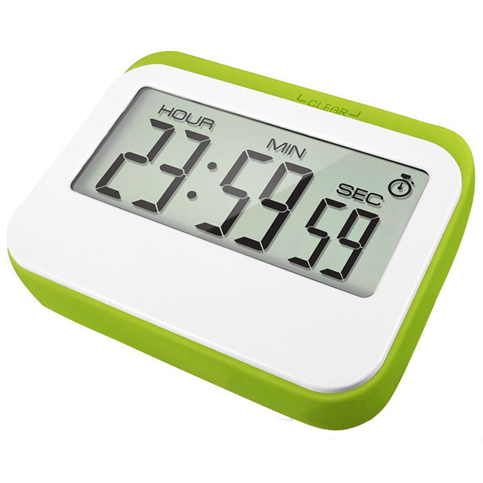 J&amp;R Desktop Magnetic Digital 24 Hours Countdown Countup <strong>Timer</strong> with Clock