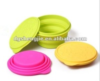 New product for 2012 silicone fruit collapsible bowl for promotion