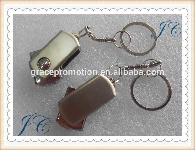 Fashion metal usb flash disk, customized metal usb stick, portable usb flash drive for office