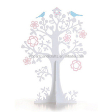 Table decoration deractive white metal tree for rack metal wishing tree