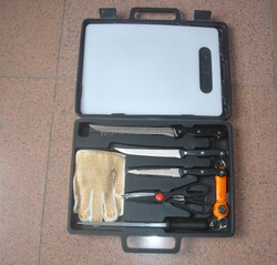 hot sale 9 Piece Fisherman's Tool Kit/fillet knife set