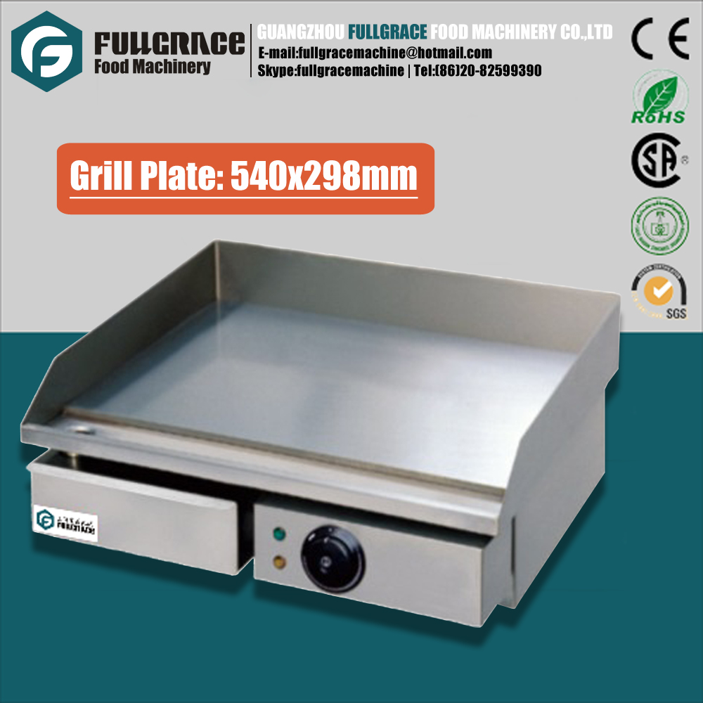 multifunctional stainless steel full flat plate commercial electric teppanyaki grill