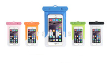 PVC Waterproof Case Pouch Bag for Boating Rafting Kayaking Rainproof smartphone case cover for iphone SE/7splus