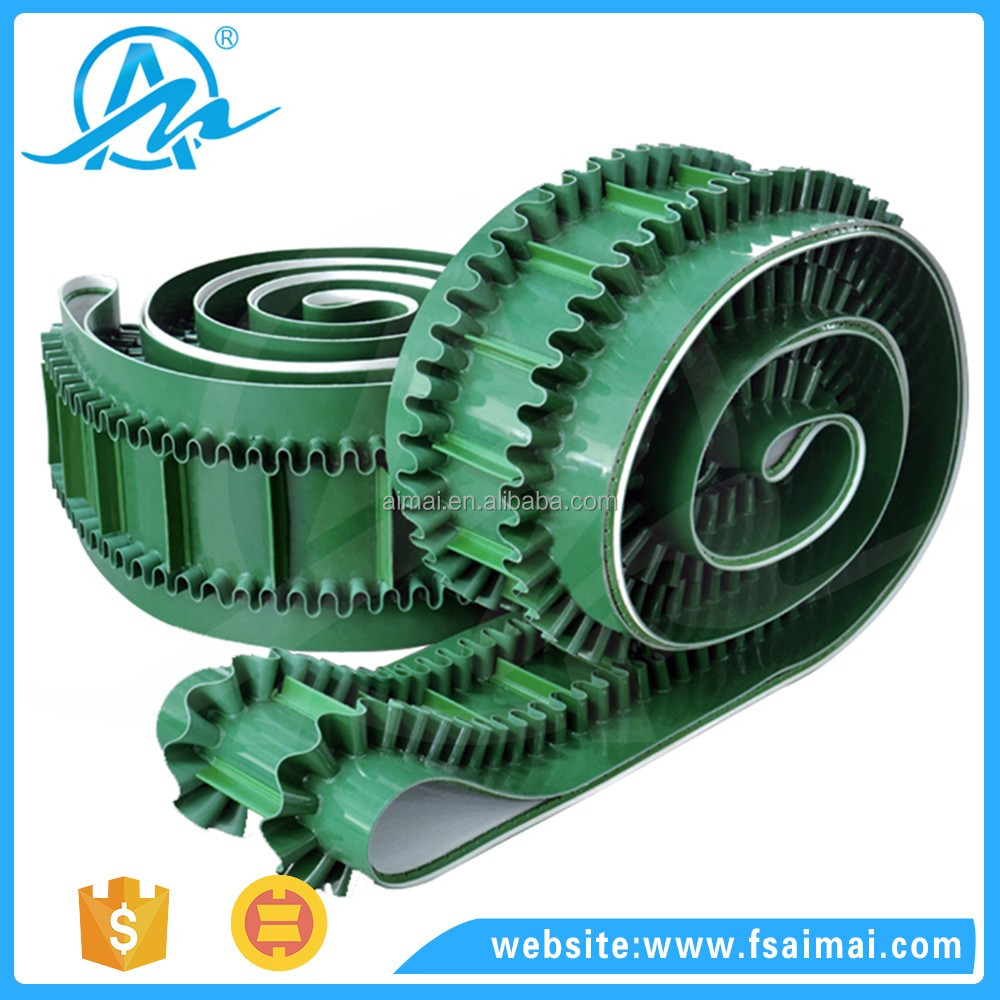 AIMAI Hot Sale industrial Green Pvc Sidewall Conveyor Belt Supplier