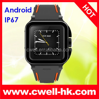 IP67 Waterproof Android Smart watch Phone