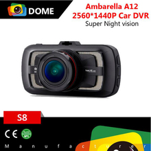 Ambarella A12 processor 1440P /30fps Quad HD digital vehicle dash cam , best car driving recorder with SPEED WARNING functions
