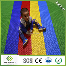 ZSFloor Kindergarten playground surface covering outdoor kids plastic flooring tiles