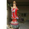 tall standing colorful female buddha kuan yin statue