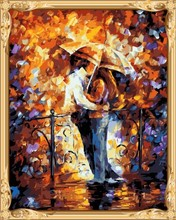 GX 7623 abstract lover man and women canvas oil painting by numbers cheap art supplies