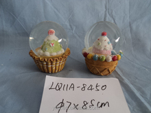 wholesale specific polyresin snow globe, snowball, Santa snowman fairy