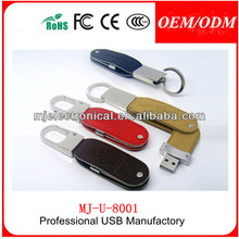 leather case usb flash drive U Crystal Metal Lock Pen Drive Memroy Stick With Necklace For Gift Gold