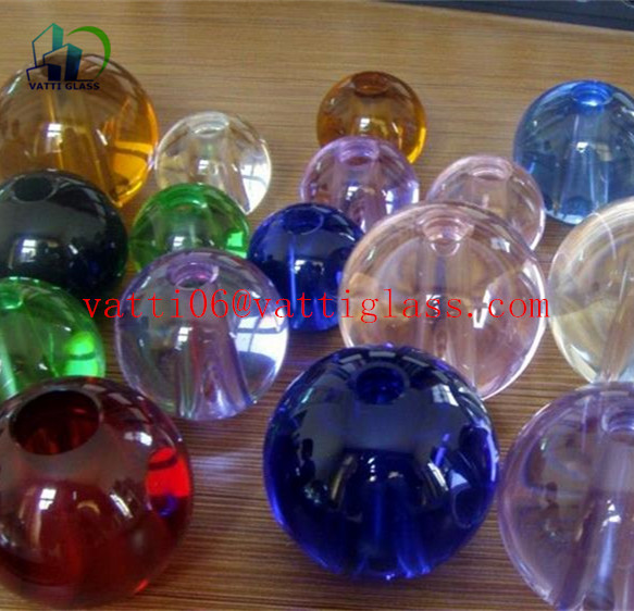 crystal colored and transparent punch glass ball with holes