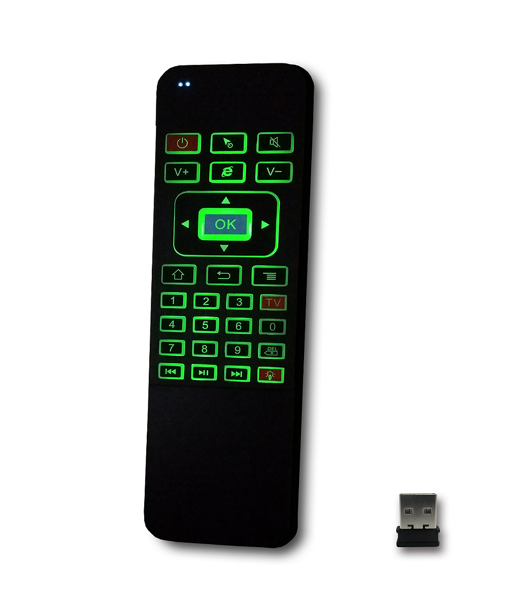 2017 Newest 2.4G Wireless Air Mouse Remote P3 Fashion Design Colorful Backlit Keyboard With Air Mouse Qwerty Key Android TV Box