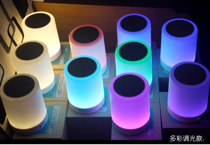 2017 Portable Mini Colorful Flash LED Light Bluetooth Speakers