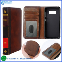 Retro 12 Bible Vintage Book Business Folio Leather Phone Case for Samsung Galaxy S8 / S8 plus Flip Wallet Pouch
