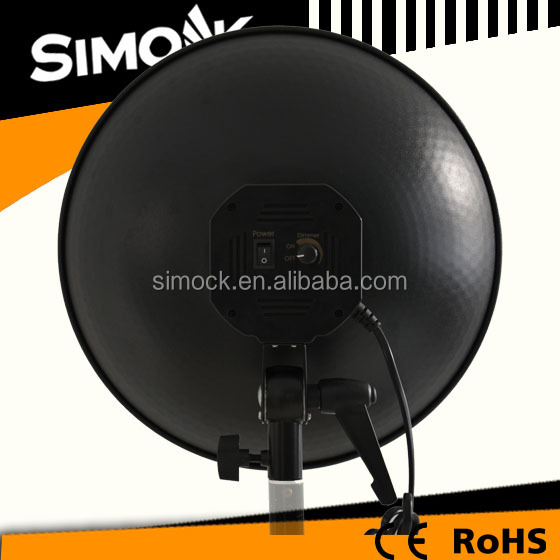 120W Tungsten Dish Studio Continuous Lighting Photography , Fluorescent Video Lighting